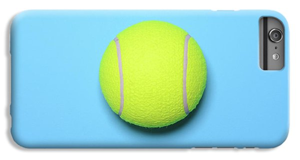 Big Tennis Ball On Blue Background - Trendy Minimal Design Top V IPhone 6 Plus Case by Aleksandar Mijatovic
