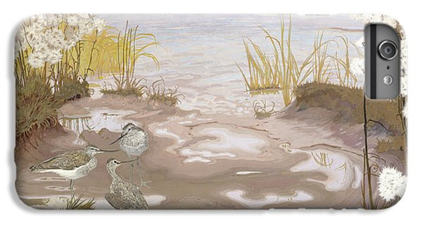 Kingfisher iPhone 6 Plus Case - Bird On The Mud Flats Of The Elbe by Friedrich Lissmann
