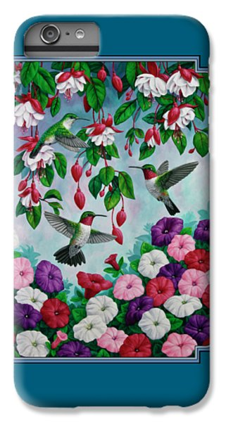 Bird Painting - Hummingbird Heaven IPhone 6 Plus Case by Crista Forest