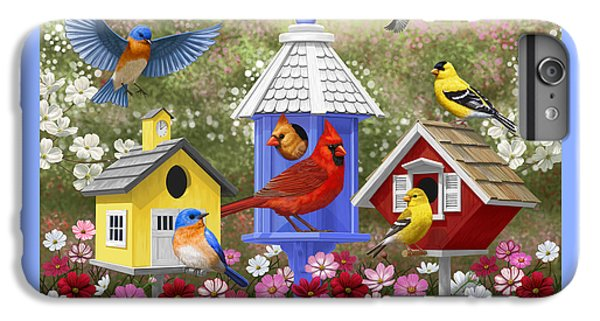 Bird Painting - Primary Colors IPhone 6 Plus Case by Crista Forest