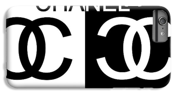 a2abac12222 Chanel iPhone 6 Plus Case - Black And White Chanel by Dan Sproul