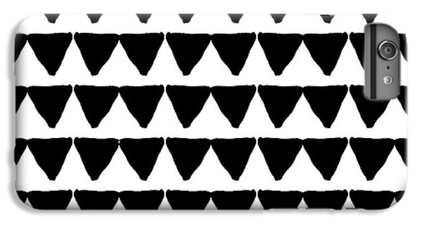 Black And White Triangles- Art By Linda Woods IPhone 6 Plus Case by Linda Woods