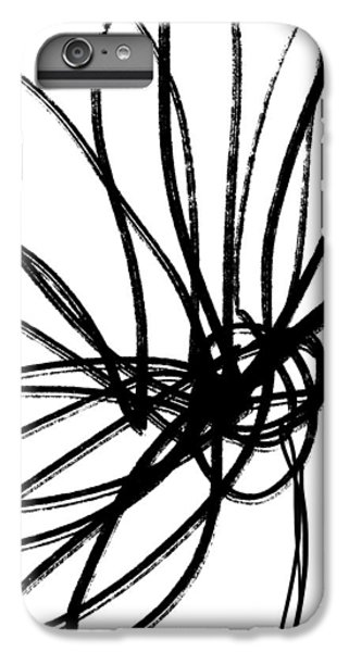 Nature iPhone 6 Plus Case - Black Ink Flower 2- Art By Linda Woods by Linda Woods