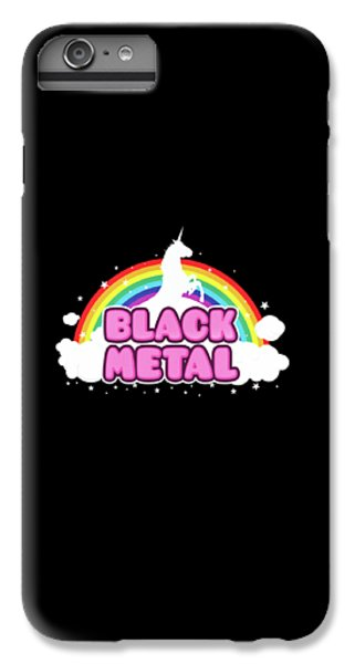 Unicorn iPhone 6 Plus Case - Black Metal Funny Unicorn / Rainbow Mosh Parody Design by Philipp Rietz
