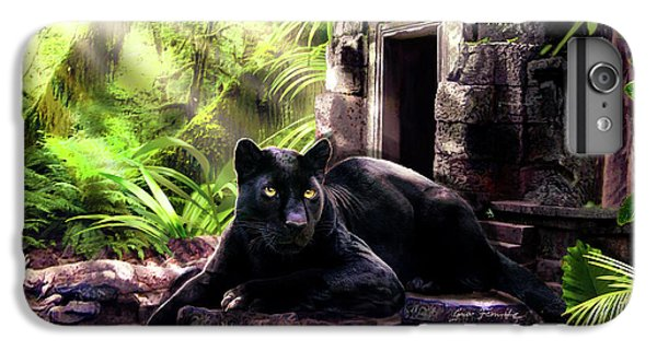 Black Panther Custodian Of Ancient Temple Ruins  IPhone 6 Plus Case