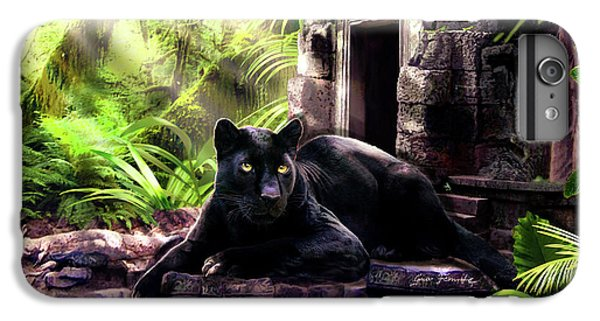 Black Panther Custodian Of Ancient Temple Ruins  IPhone 6 Plus Case by Regina Femrite