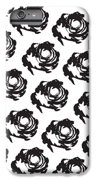 Black Rose Pattern IPhone 6 Plus Case by Cortney Herron