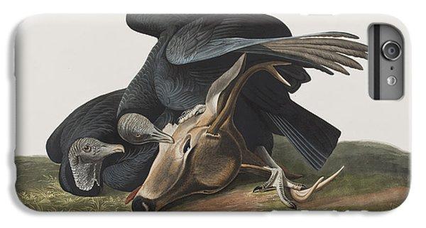 Vulture iPhone 6 Plus Case - Black Vulture Or Carrion Crow by John James Audubon