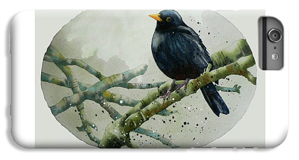 Blackbird Painting IPhone 6 Plus Case by Alison Fennell