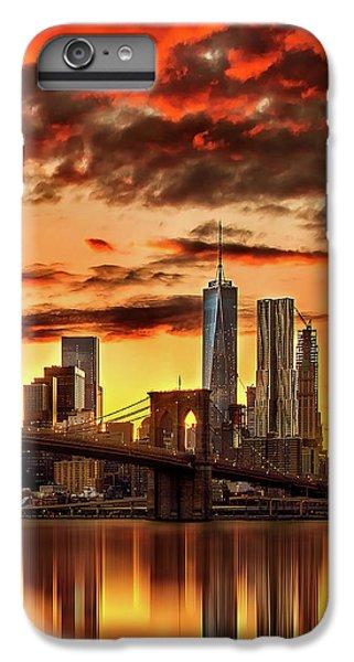Blazing Manhattan Skyline IPhone 6 Plus Case by Az Jackson