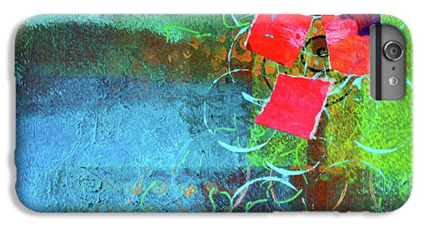 IPhone 6 Plus Case featuring the mixed media Bloom Abstract Collage by Nancy Merkle