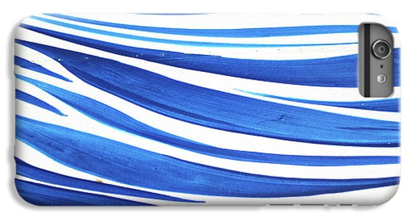 Blue And White No. 1 IPhone 6 Plus Case by Sandy Taylor