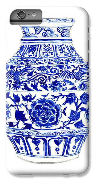 Phoenix iPhone 6 Plus Case - Blue And White Ginger Jar Chinoiserie 4 by Laura Row
