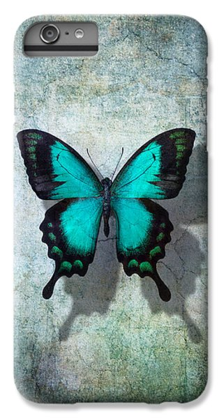 Butterfly iPhone 6 Plus Case - Blue Butterfly Resting by Garry Gay