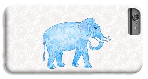 Blue Damask Elephant IPhone 6 Plus Case