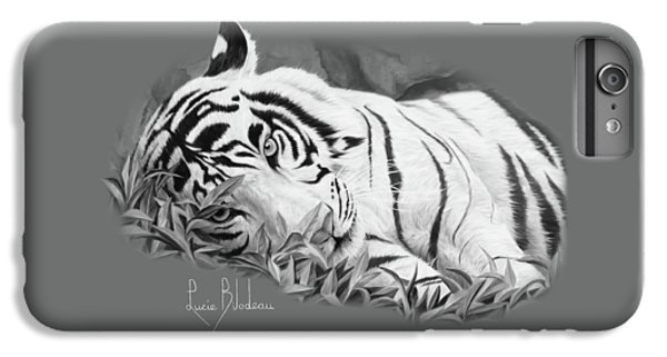 Blue Eyes - Black And White IPhone 6 Plus Case by Lucie Bilodeau