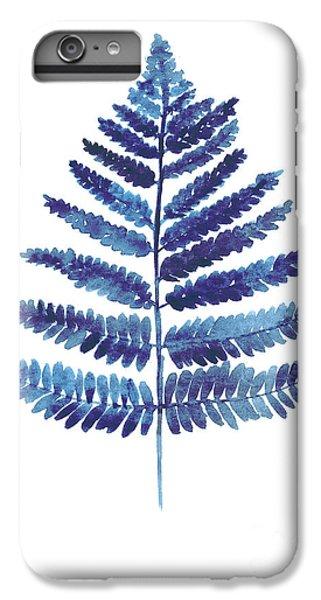 Garden iPhone 6 Plus Case - Blue Ferns Watercolor Art Print Painting by Joanna Szmerdt