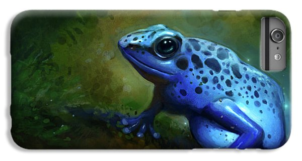 Frogs iPhone 6 Plus Case - Blue Frog by Caroline Jamhour