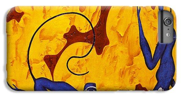 Bogdanoff iPhone 6 Plus Case - Blue Monkeys No. 45 by Steve Bogdanoff