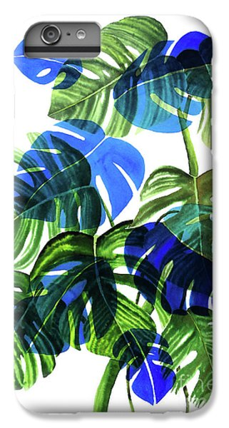 Blue Monstera IPhone 6 Plus Case by Ana Martinez