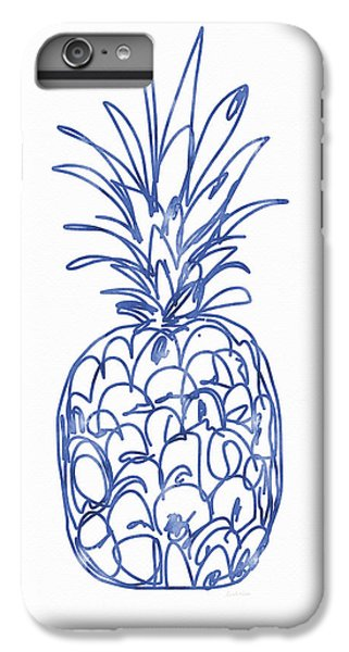 Blue Pineapple- Art By Linda Woods IPhone 6 Plus Case