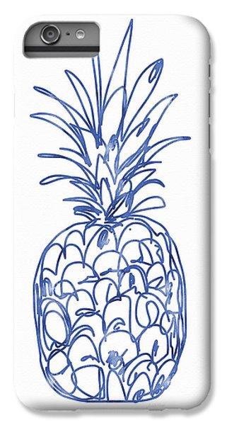 Blue Pineapple- Art By Linda Woods IPhone 6 Plus Case by Linda Woods