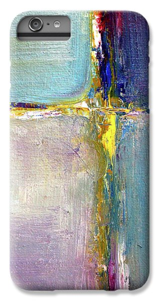 IPhone 6 Plus Case featuring the painting Blue Quarters by Nancy Merkle
