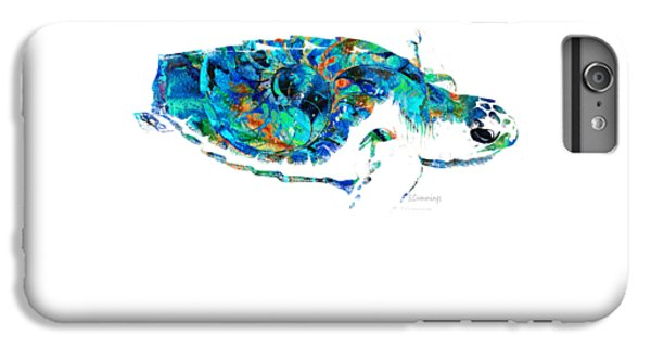 Blue Sea Turtle By Sharon Cummings  IPhone 6 Plus Case by Sharon Cummings