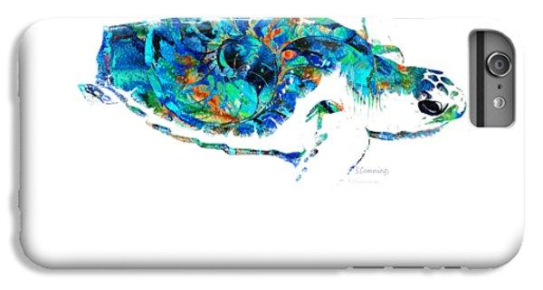 Blue Sea Turtle By Sharon Cummings  IPhone 6 Plus Case