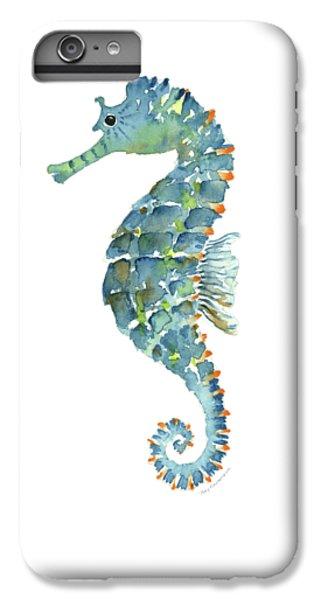 Blue Seahorse IPhone 6 Plus Case by Amy Kirkpatrick