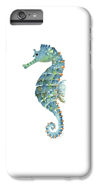 Blue Seahorse IPhone 6 Plus Case by Amy Kirkpatrick