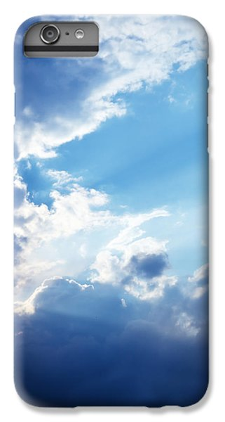 Blue Sky And Clouds With Sun Light IPhone 6 Plus Case by Jozef Klopacka