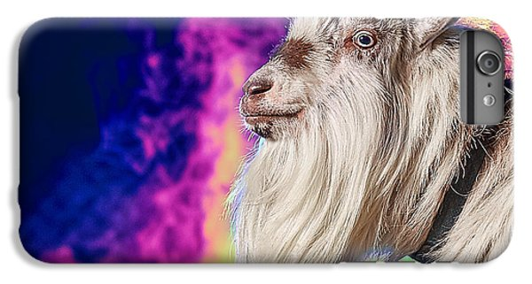 Blue The Goat In Fog IPhone 6 Plus Case by TC Morgan