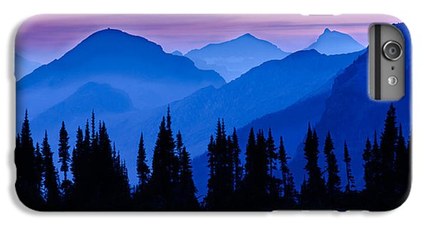 Mountain Sunset iPhone 6 Plus Case - Blue Wall by Mike Lang