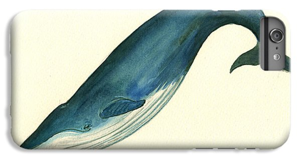 Blue Whale Painting IPhone 6 Plus Case by Juan  Bosco
