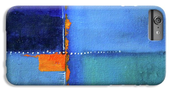 IPhone 6 Plus Case featuring the painting Blue Window Abstract by Nancy Merkle