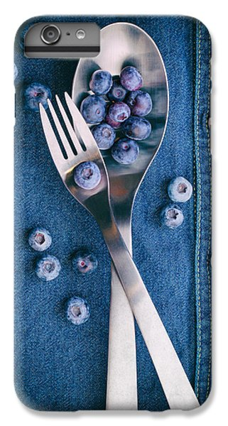 Blueberries On Denim II IPhone 6 Plus Case by Tom Mc Nemar