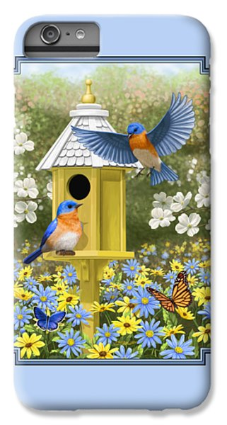 Bluebird Garden Home IPhone 6 Plus Case by Crista Forest