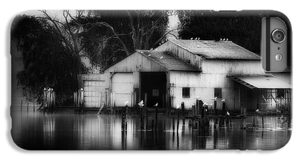 IPhone 6 Plus Case featuring the photograph Boathouse Bw by Bill Wakeley