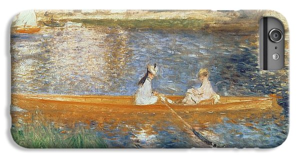 Boat iPhone 6 Plus Case - Boating On The Seine by Pierre Auguste Renoir