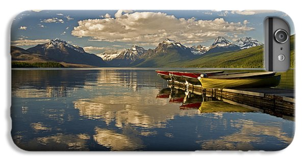 IPhone 6 Plus Case featuring the photograph Boats At Lake Mcdonald by Gary Lengyel