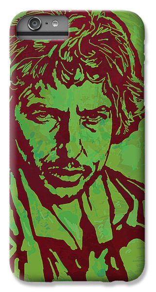 Bob Dylan Pop Art Poser IPhone 6 Plus Case by Kim Wang