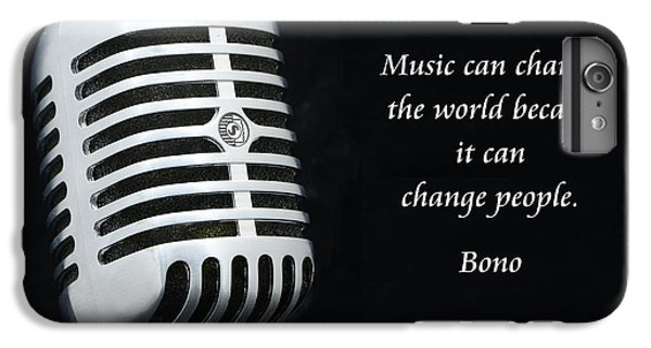 Bono On Music IPhone 6 Plus Case by Paul Ward