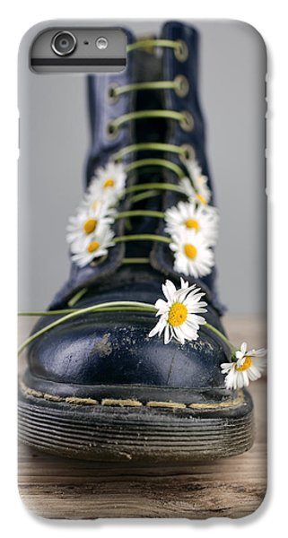 Daisy iPhone 6 Plus Case - Boots With Daisy Flowers by Nailia Schwarz