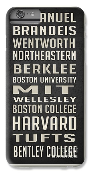 Boston Colleges Poster IPhone 6 Plus Case by Edward Fielding
