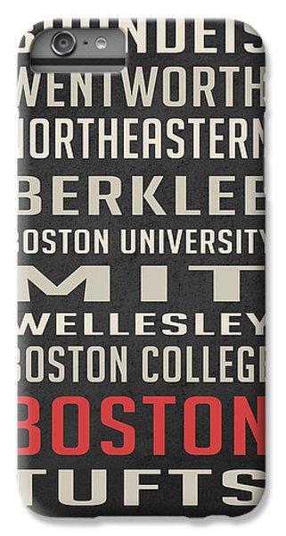 Boston Collegetown IPhone 6 Plus Case by Edward Fielding