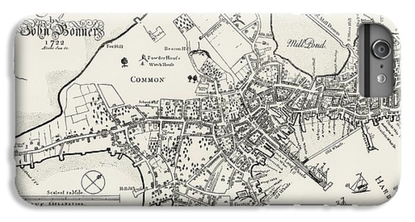 Boston Map, 1722 IPhone 6 Plus Case by Granger