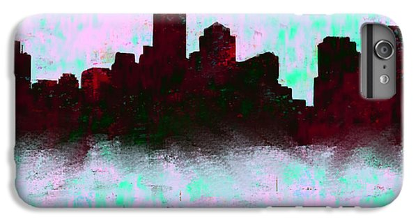 Boston Skyline Sky Blue  IPhone 6 Plus Case by Enki Art