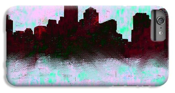 Boston Skyline Sky Blue  IPhone 6 Plus Case by Enki Art