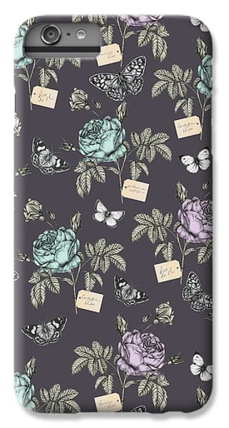 Botanical Roses IPhone 6 Plus Case by Stephanie Davies